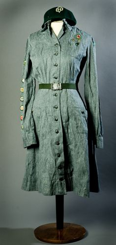 WWII era Girl Scout Uniform  Gift of Betty Oseid Carey 2008.141