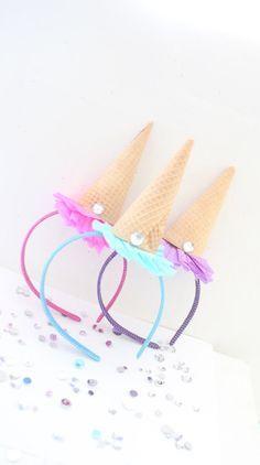 Ice Cream Party Headband/Ice Cream Shoppe/Ice Cream Party