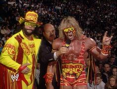 """Ultimate Madness - Randy """"Macho Man"""" Savage and The Ultimate Warrior in WCW with Mean Gene Okerlund. Watch Wrestling, Wrestling Wwe, Wrestling Stars, Wwe Tna, Wrestling Superstars, Wwe Wrestlers, Famous Wrestlers, Professional Wrestling, Indiana"""