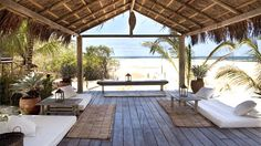Uxua Casa, a breezy boutique hotel in Bahia strikes a perfect balance between luxury and laid-back. The 10 private casas are set in the main square of Trancoso, a beautiful beachside village.