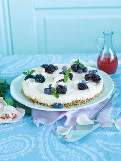Valkosuklaajuustokakku | K-ruoka #cheesecake