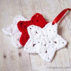 Crochet star pattern. www.1dogwoof.com