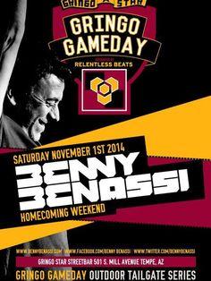 DJ Benny Benassi at ASU Tailgate party this Saturday