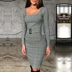 Material : COTTON,Polyester Color : Grey Decoration : Sashes Season : Autumn,Winter The post Fashion Plaid Long Sleeve Bodycon Dress appeared first on Power Day Sale. Club Dresses, Sexy Dresses, Fashion Dresses, Mini Dresses, Sexy Outfits, Jumpsuit Dress, Bodycon Dress, Sexy Lingerie, Military Ball Dresses