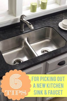 Tip from the Pros: No #kitchen is complete without a great sink and faucet. But it's easy to feel like you're drowning in a sea of options to choose from. Believe it or not, when it comes to selecting these staples, style is secondary. Your primary task is to select a sink and faucet that will work well and withstand years of daily use. To that end, here are 6 tips on choosing a new kitchen sink and faucet that will work best for you.