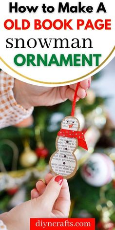 Old Book Crafts, Book Page Crafts, Easy Paper Crafts, Glue Crafts, Christmas Crafts, Christmas Decorations, Christmas Ideas, Christmas Ornaments, Xmas