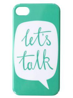 Let's Talk phone case