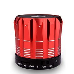Introducing Bluetooth Speaker Faslov Wireless Bluetooth Speakers Stereo Portable Bluetooth Speaker with Handsfree Speakerphone Red. Great Product and follow us to get more updates!