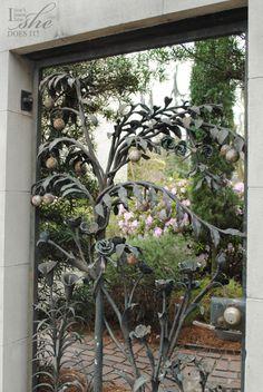 Iron gated door in Savannah, GA