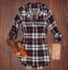 My plaid dress, black otk boots, black jacket(office) or blk cardi (wkend)