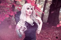 Grey-black lace gothic victorian vampire costume neck collar #mysticthread - www.mysticthread.com , Singer/Model/Edit: #Eleine  ,  Photo: #RikardEkberg