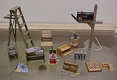 Dollhouse Miniatures Magazine how-to articles. (no how to - just photos)