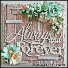 A weddingcard... #primiapysslar #vintage #wedding #card #flowers
