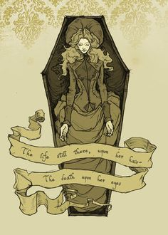 The Women of Poe illustrated by Abigail Larson (Artist on tumblr)