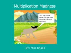 """StoryJumper book - """"Multiplication Madness"""". Making multiplication easier to understand."""