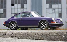 Porsche Electric, Purple Paint Colors, 1973 Porsche 911, Sport Seats, Pebble Beach, Fuel Injection, Cars, Classic, Derby
