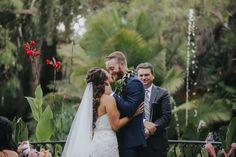 Gorgeous Tropical Wedding at Eden Gardens - Aisle Perfect Garden Of Eden, Tropical, Wedding Dresses, Fashion, Bride Dresses, Moda, Bridal Gowns, Fashion Styles