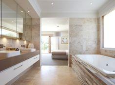 Ensuite Bathroom - Inset Mirrored Overhead
