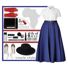 """Red, White and Blue Fashion Statement / 1th Look"" by turekbunny on Polyvore"