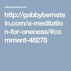 Meditation for Onene