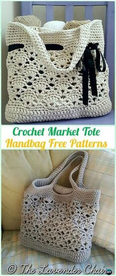Häkelarbeit Markt Tote Handtasche Freies Muster - #Crochet Handtasche Free Patterns