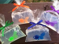 Goldfish themed birthday party ideas on pinterest for Fish in a bag soap