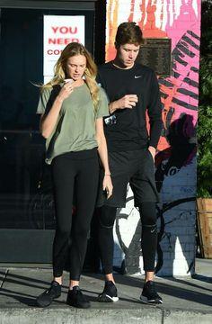 Romee Strijd with her boyfriend