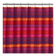 Marimekko Räsymatto Red Shower Curtain   Crate & Barrel