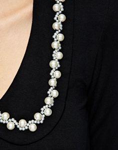 Faux Pearl Trim on Dress