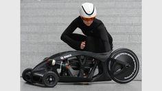 """3D Printed """"Akkuschrauberrennen"""" Racing Vehicle Powered by a Bosch Hand Drill"""