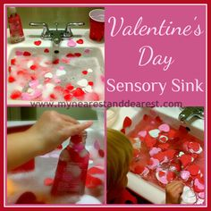 Valentines Day theme water play