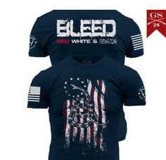 Enlisted Nine - Bleed Red, White, and Blue – Grunt Style Merica Shirt, Denim Shirt, Country Shirts, Country Outfits, Grunt Style Shirts, Cool Shirts, Tee Shirts, Tactical Clothing, Tactical Gear