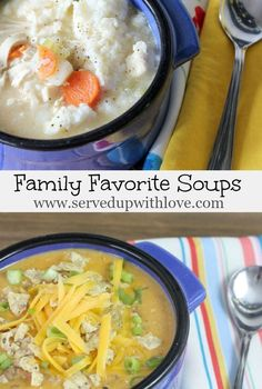 Served Up With Love: Family Favorite Soups-All our favorite soup recipes that we make in the colder months. There is just something about soup that soothes the soul.