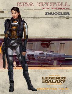 Kira Highfall - Woman Smuggler | FFG - Fantasy Flight Game- Legends of the Galaxy