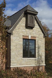 With the look of hand-crafted stone, Artiste stone elevates any architecture with its striking beauty. Brickwork, Shed, Outdoor Structures, Cabin, Stone, Architecture, House Styles, Projects, Inspiration