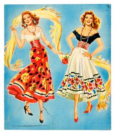 Rita Hayworth paper dolls / marlendy.wordpress.com