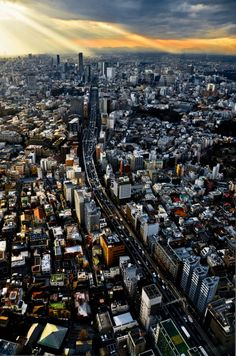 | ♕ |  at the end of the highway - Tokyo sunset  | by © Swiftblue    via lllkml : ysvoice : takanori402000