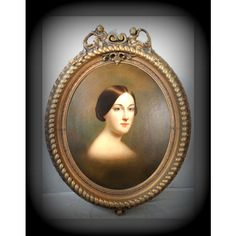 Oil on Canvas- Framed -Portrait of a Lady-Classical French Home Decor ($1,275) ❤ liked on Polyvore featuring home, home decor and wall art