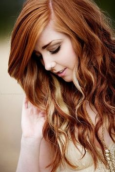 The highlights of Hairstyles for Long Thick Hair: Blonde Copper ...
