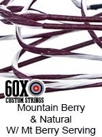 Mountain berry natural with mountain berry serving custom bowstring