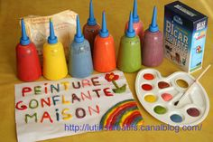 Puff paint Swelling paint, home - The Creative Leprechauns, DIY for children. Puffy Paint, Diy For Kids, Crafts For Kids, Walt Disney Company, Diy And Crafts, Arts And Crafts, Creative Workshop, Disney Pixar, Kids And Parenting