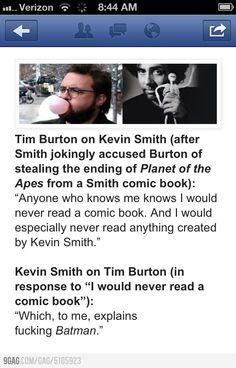 Kevin Smith vs Tim Burton