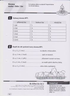 slovesa Worksheets, Sheet Music, Language, English, Activities, Education, Halloween, School, Literature