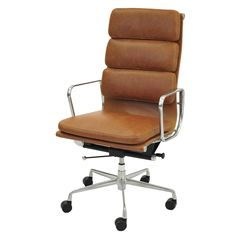 Chandel High Back Office Chair , Vintage Tawny
