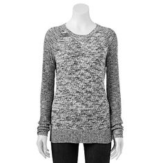 Croft & Barrow® Space-Dye Cable-Knit Sweater - Women's