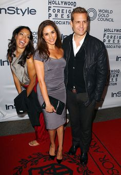 Meghan Markle Photos (L-R) Actors Gina Torres Meghan Markle and Gabriel Macht attend the WGC Hosts Party With InStyle Serie Suits, Suits Tv Series, Suits Tv Shows, Specter Suits, Harvey Specter, Meghan Markle Photos, Meghan Markle Style, Actress Meghan Markle, Suits Harvey