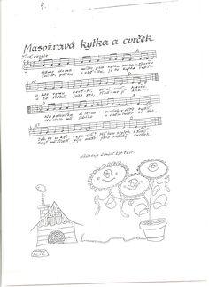 písničky pro děti - Hledat Googlem Kids Songs, Music Notes, Kindergarten, Bullet Journal, Petra, Children Songs, Kindergartens, Preschool, Sheet Music