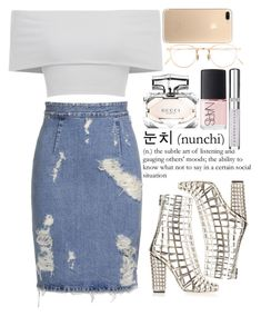 """""""October 04, 2016"""" by inesdinis6 ❤ liked on Polyvore featuring Yves Saint Laurent, Acne Studios, Gucci, Eyevan 7285, NARS Cosmetics and Chantecaille"""