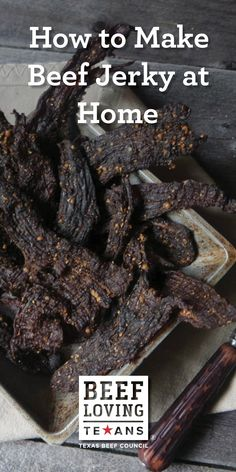 Learn how to prepare amazing beef jerky in your own kitchen with this easy recipe and tips from Jess Pryles. Jerky Recipes, Meat Recipes, Appetizer Recipes, Snack Recipes, Barbecue Recipes, Dinner Recipes, Appetizers, Whole 30, Gastronomia
