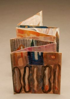 "Karen Kunc - ""Predella"" - she used tape to connect the pages"